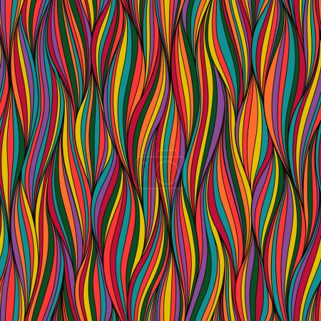 Illustration for Seamless wave hand-drawn pattern, waves background.Can be used for wallpaper, pattern fills, web page background,surface textures. Gorgeous seamless wave background. - Royalty Free Image