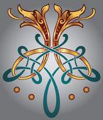 Celtic zoomorph motifs
