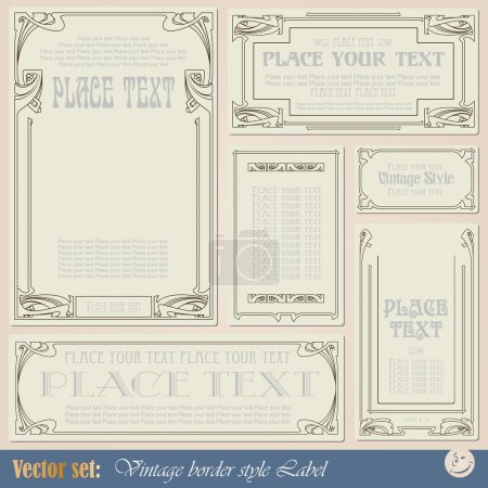 Vintage style labels