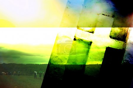 Photo for Christian cross on an abstract background - Royalty Free Image
