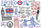 London symbols icons doodles drawing