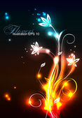 Glowing background with flowers