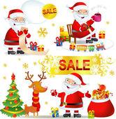 Vánoční prodej s santa