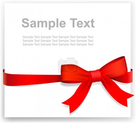 Greeting card or the certificate, red tape and bow
