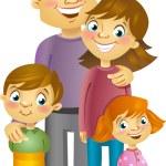 Happy family, vector illustration...