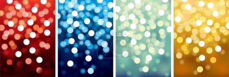 Illustration for Vector backgrounds defocused light, no size limit. proportion of A4 format vertical. - Royalty Free Image