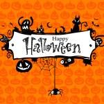 Halloween vector frame....