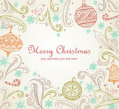 Frame with place for your text in heart shape Elegant Christmas card