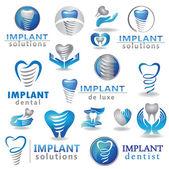 Fogászati implantátumok-szimbólum