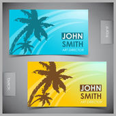 Set of creative tourism business cards