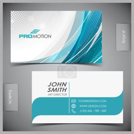 Illustration for Vector abstract creative business cards (set template) - Royalty Free Image