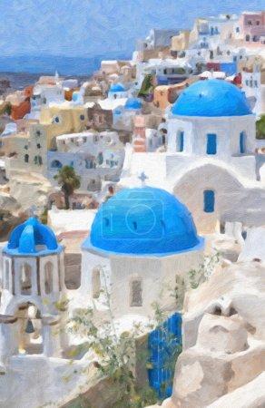 Santorini Oil Painting