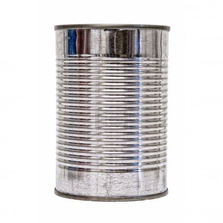 Isolated Tin Can front