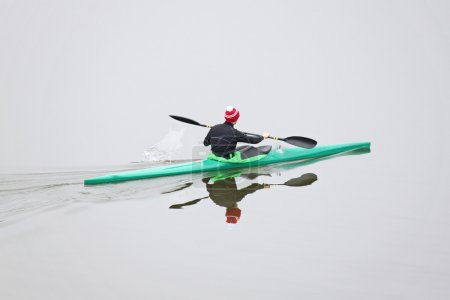 Rowing on kayak