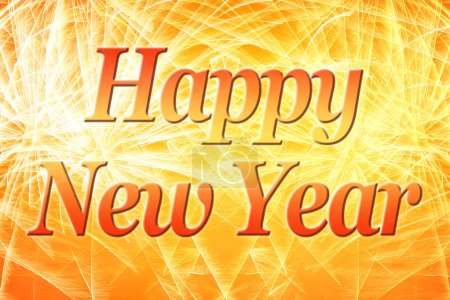Photo for Happy New Year background with fireworks - Royalty Free Image