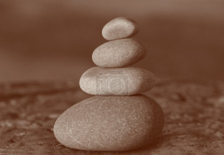Photo for Close up of stack of four stones - Royalty Free Image