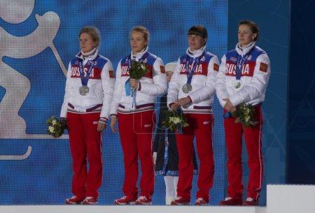 Russian womens biathlon team