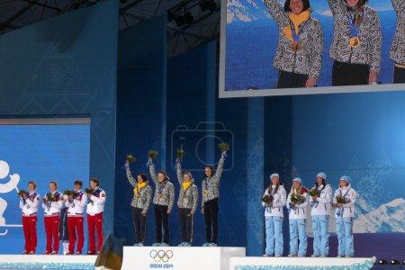 Womens biathlon 4x6km relay medal