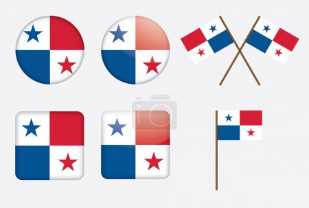 Badges with flag of Panama