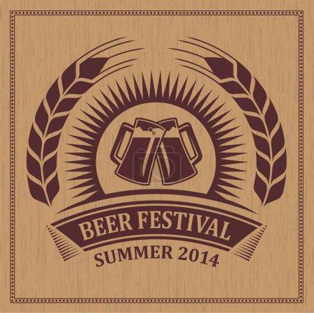 Symbole icône festival bière