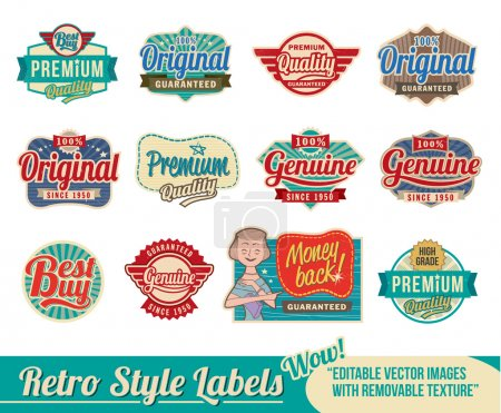 Vintage retro labels and badge emblems