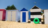 Plážové chatky na ostrov oleron ve Francii