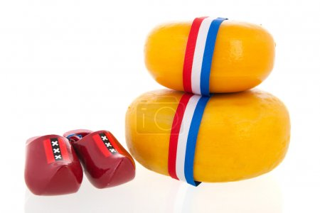 Whole Dutch cheeses