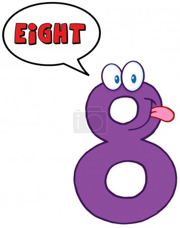 Number Eight Character With Speech Bubble