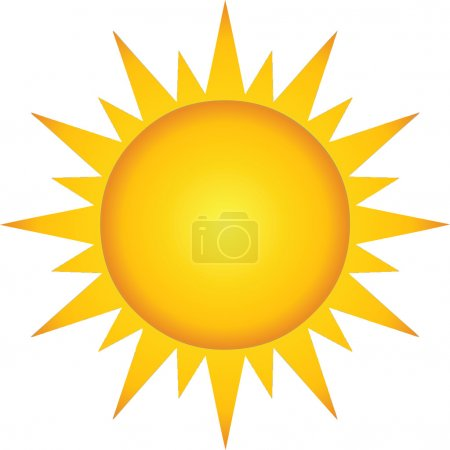 Photo for Illustration Of Summer Hot Sun Cartoon Character - Royalty Free Image
