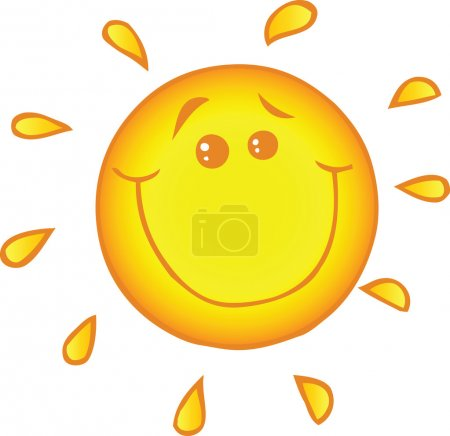 Photo for Illustration Of Smiling Sun Cartoon Character - Royalty Free Image