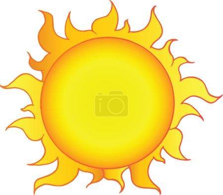 Photo for Yellow Sun Shining Cartoon Character - Royalty Free Image