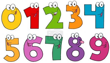 Photo for Illustration Of Funny Numbers Cartoon Mascot Characters . Collection - Royalty Free Image