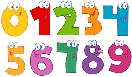 Photo for Funny Numbers Cartoon Characters .Collection - Royalty Free Image