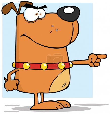 Brown Angry Dog Finger Pointing