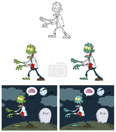 Zombie Cartoon Mascot Characters-Collection