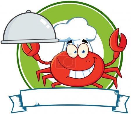 Crab Chef Cartoon Mascot Logo