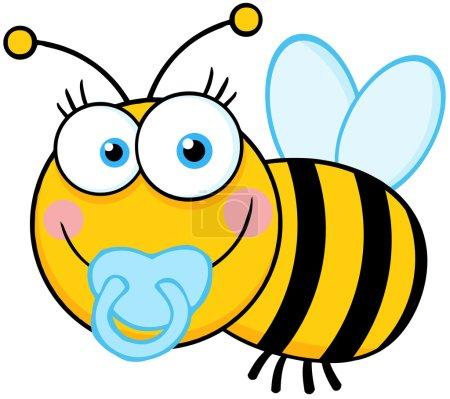 Baby Boy Bee Cartoon Mascot Character