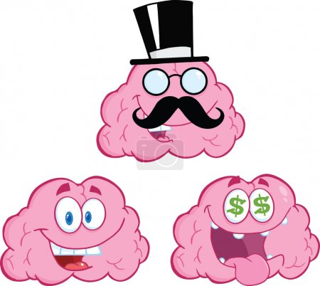 Photo for Brain Cartoon Mascot Character Collection 12 - Royalty Free Image