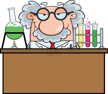 Mad Scientist Or Professor In The Laboratory