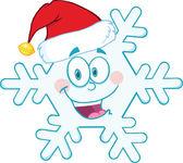 Aranyos hópehely kabalája rajzfilmfigura a santa kalap