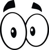Black And White Cute Cartoon Eyes