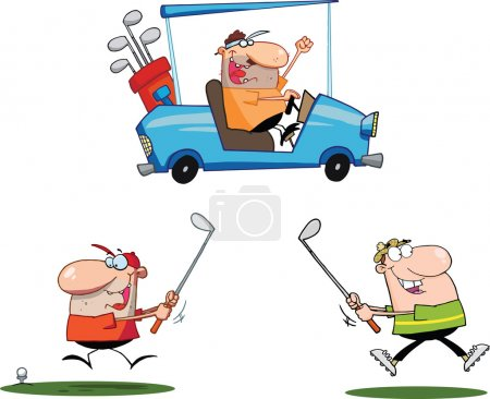 Happy Golfers Characters  Set Collection