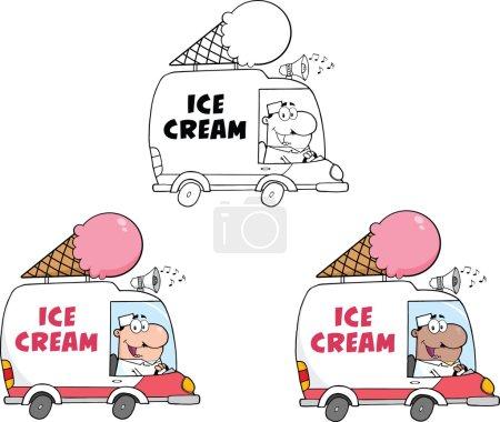 Ice Cream Truck. Collection Set