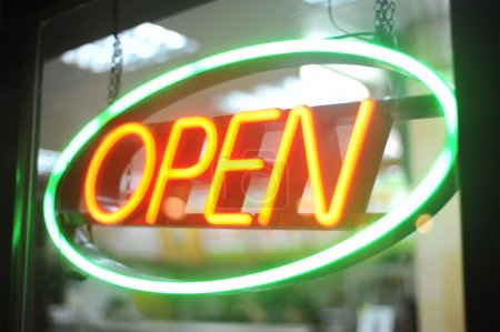 Neon light of Open sign