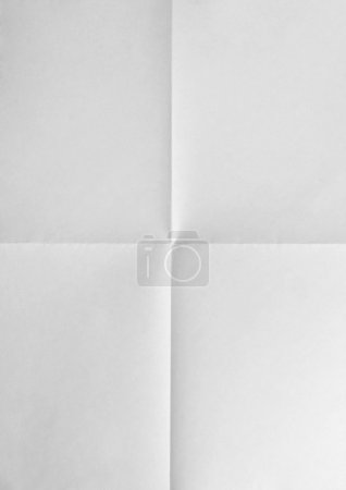 Paper folded in four