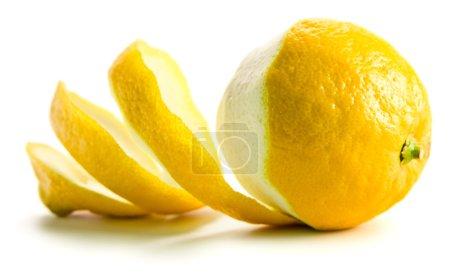 Photo for Fresh lemon isolated on a white background - Royalty Free Image
