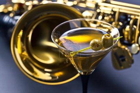 martini and sax