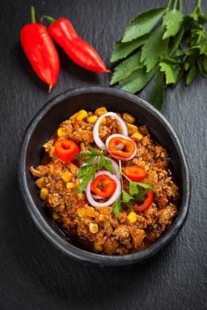 Traditional chilli con carne