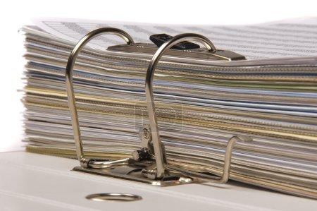 Photo pour Nombre de documents dans le dossier de fichiers - image libre de droit