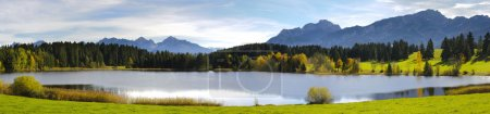 Photo for Panorama view over beautiful rural landscape in Bavaria, Germany - Royalty Free Image
